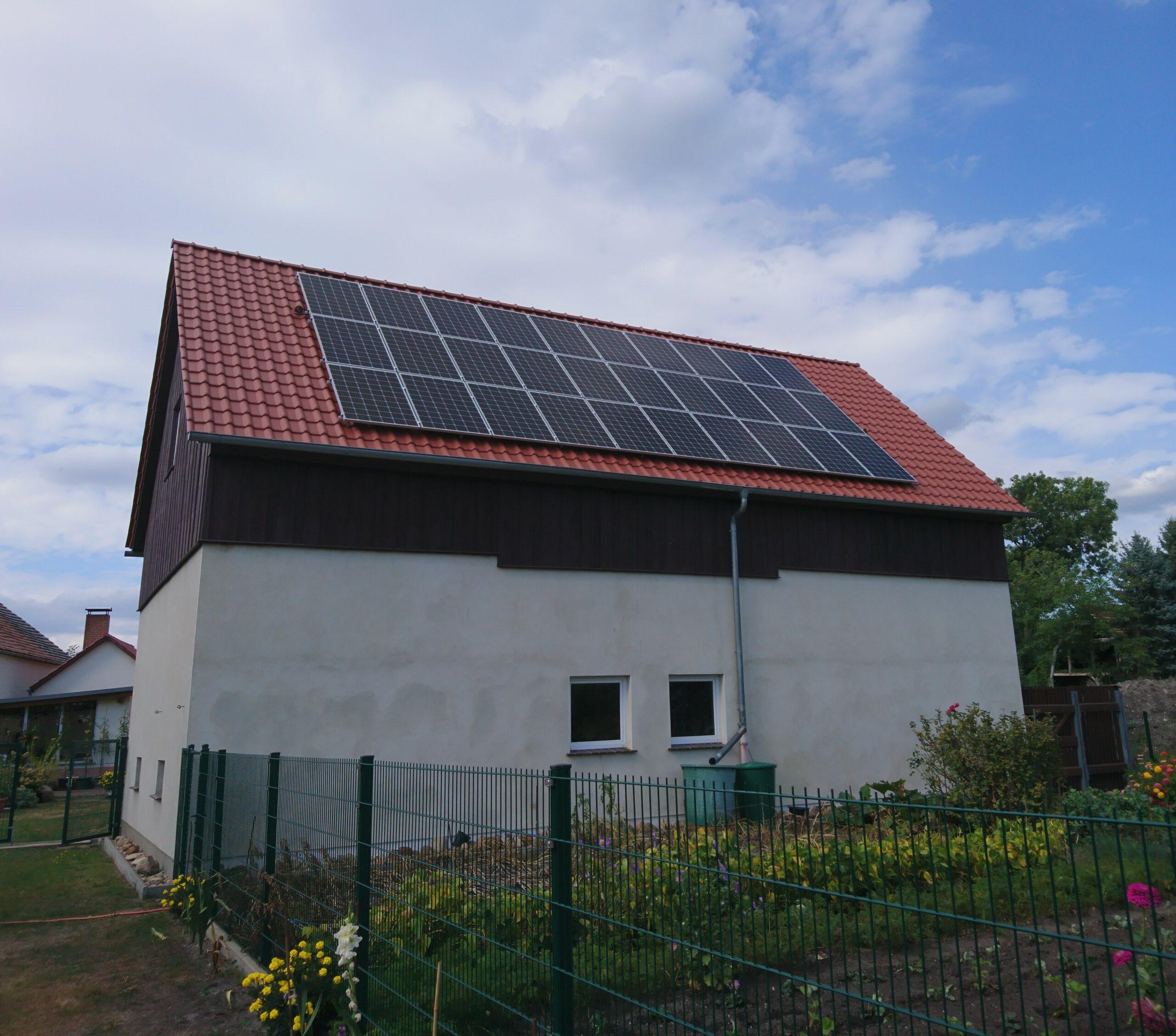 PV-Anlage, 9 kWp Scheunendach